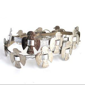 Vintage Thunderbird Belt Silver Conch Style Boho